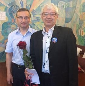 Евгений Иванов поздравил с днем рождения Александра Уткина