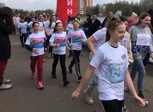 Ученики школы №2073 приняли участие в соревнованиях по спортивной ходьбе