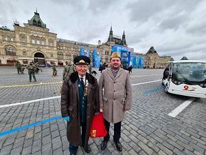 Ветеран ВОВ Н.С.Ярко посетил Парад Победы на Красной Площади