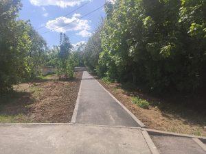 В посёлке Д/О «Вороново» завершаются работы по устройству дорожно-тропиночной сети