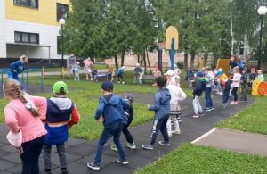 Утреннюю зарядку провели в детском саду Вороновского