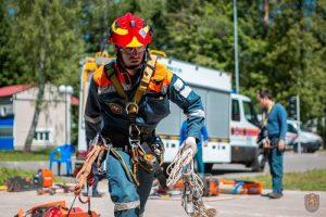 Спасатели Пожарно-спасательного центра боролись за звание лучшего