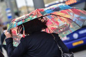 Сильные порывы ветра и гроза продлятся до вечера в Москве
