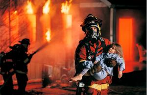 Правила поведения детей при пожаре!