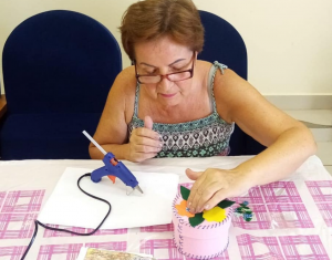 Шкатулки из фетра создали гости Центра реабилитации «Ясенки»