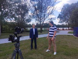 Выездную съёмку эфира «Актуальной темы» с участием Главы администрации поселения провели в Вороновском