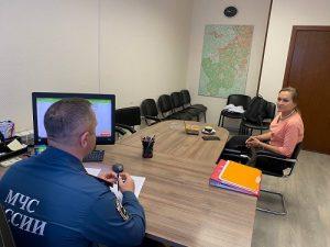 Пресс-ланч руководителя отдела пожарного надзора по вопросам обеспечения безопасности поселения Краснопахорское