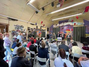 Общественники совместно со столичными полицейскими посетили подшефный детский дом «Филимонки»
