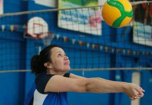 Тренировка в секции волейбола прошла в Спортивном комплексе «Вороново»