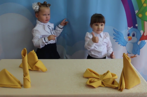 Дошкольники образовательного комплекса №2073 научились складывать салфетки